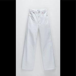 Zara hi rise full length jeans trf